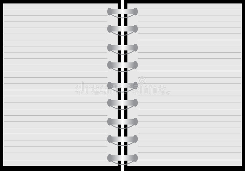 Notebook. Illustration of a notebook with lines royalty free illustration