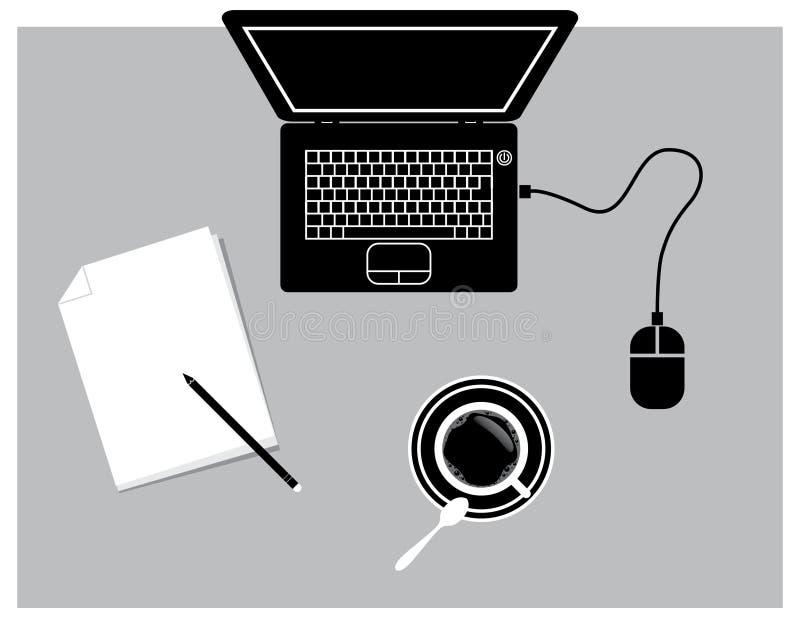 Download Notebook stock illustration. Image of document, cafe - 20735208