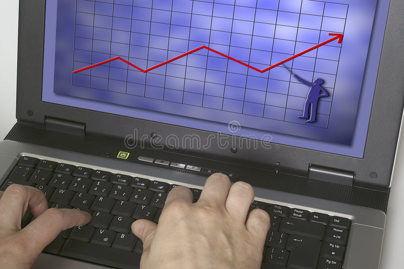 Download Notebook stock photo. Image of computer, keyboard, press - 462560