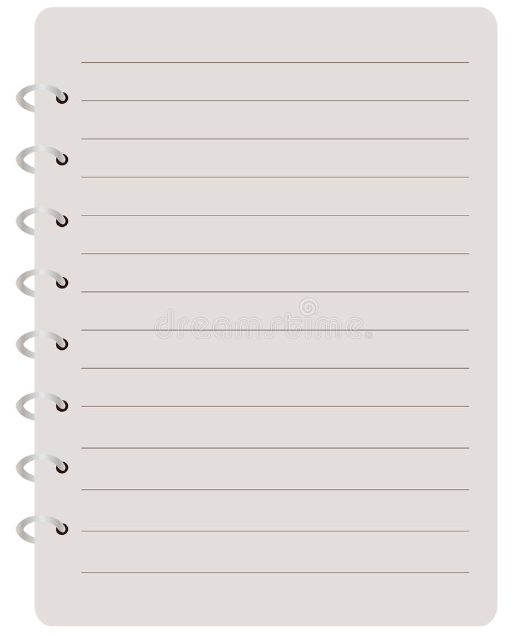 Notebook stock illustration
