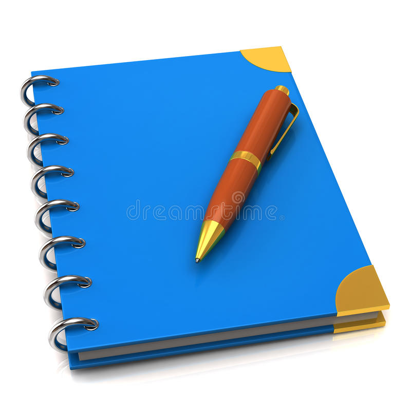 Free Notebook And Pen Royalty Free Stock Photos - 19508888