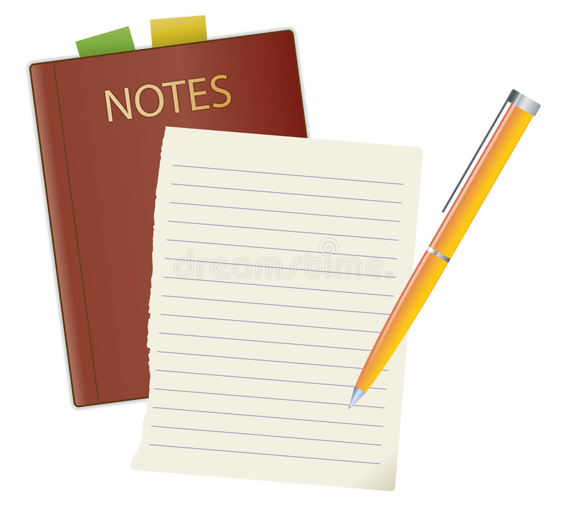 Free Notebook And Pen Royalty Free Stock Images - 7987869