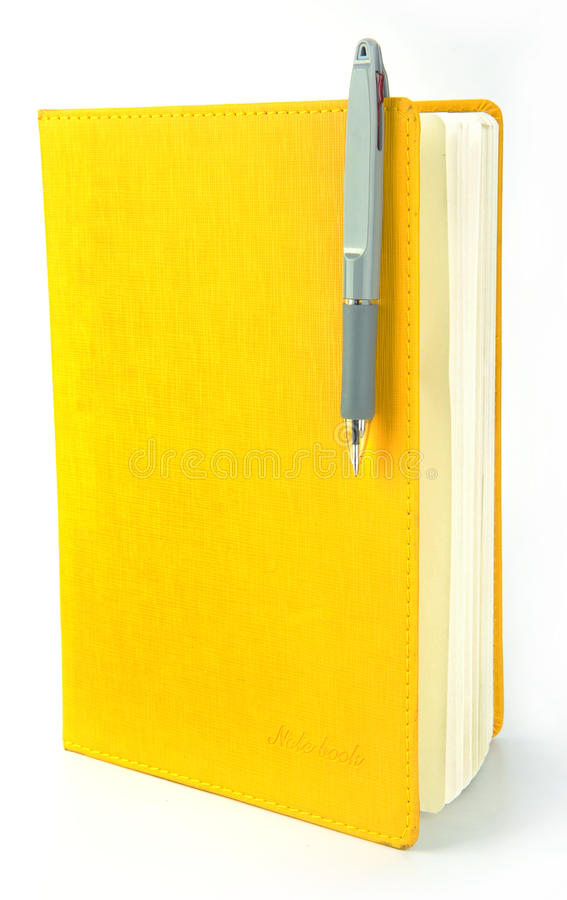 Notebook and ball pen stock photography