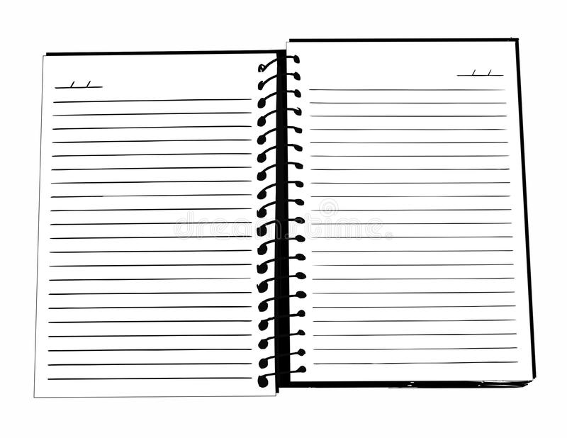 Notebook Black and White stock images