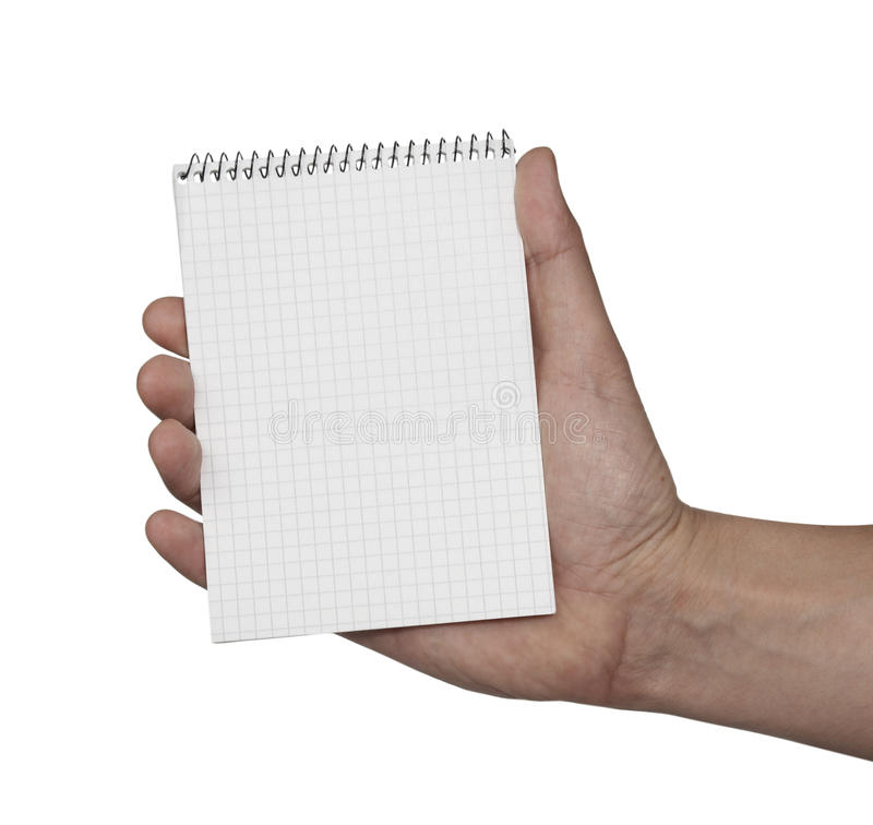 Download Notebook Blank Paper And Hand Stock Photo - Image: 9896068