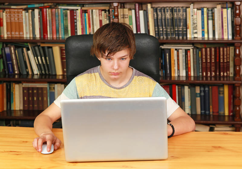 Notebook boy stock images