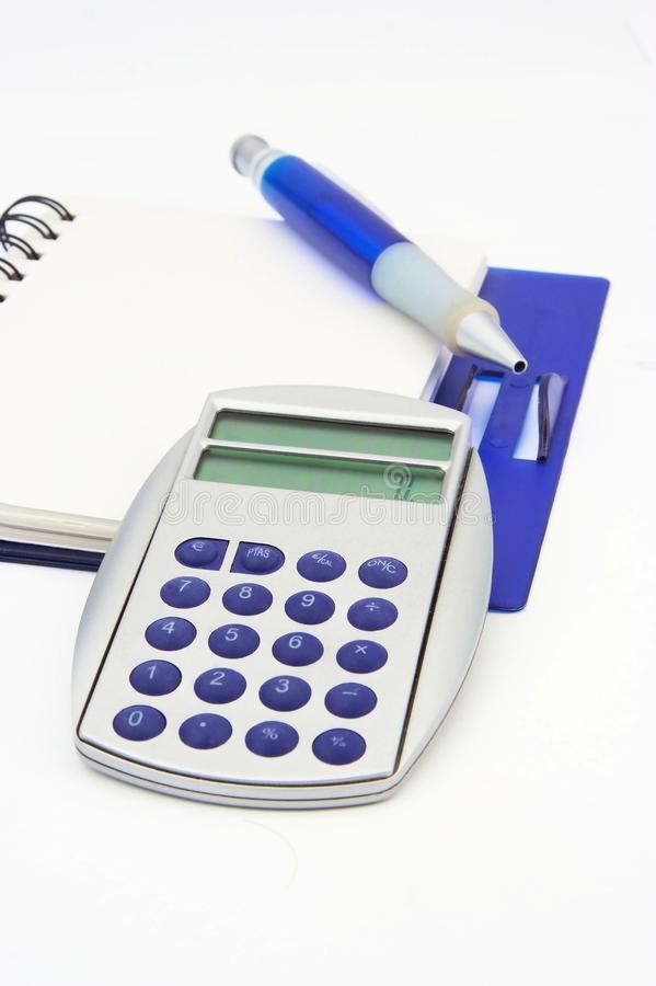 Download A Notebook, A Calculator And A Pen Isolated Stock Image - Image: 19168357