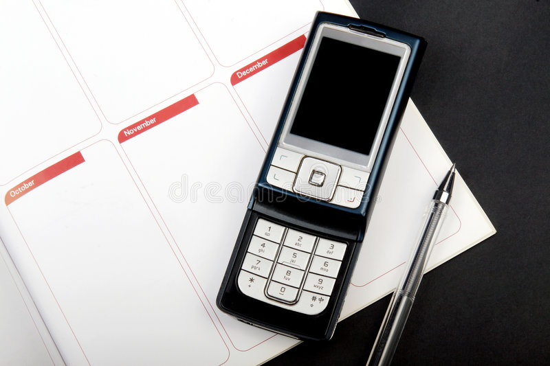 The notebook and cellular phone