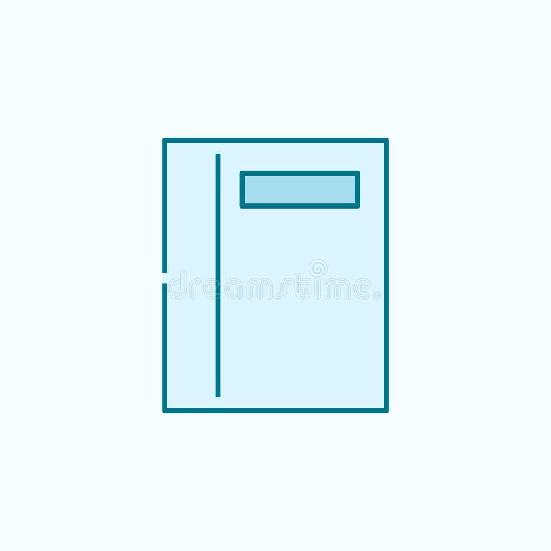 Office Blue Notebook Icon, Realistic Style Stock Vector