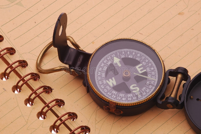 Download Notebook & Compass stock image. Image of open, fieldbook - 2305183