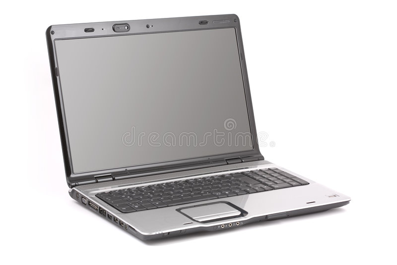 Notebook-Computer getrennt lizenzfreie stockfotos