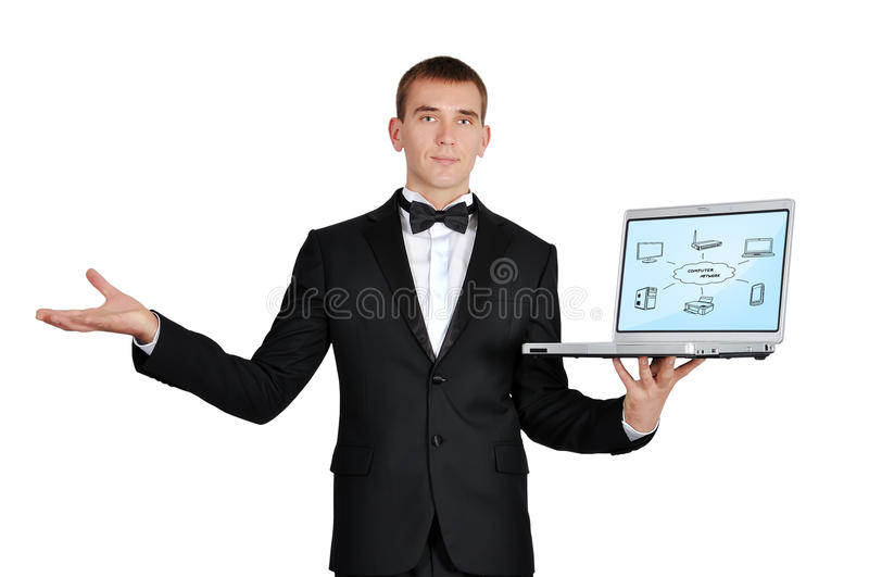Download Notebook With Computer Network Stock Photo - Image: 31863892