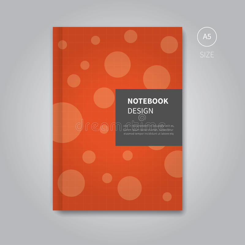 Free School Notebook Cover Vector : Notebook cover design template stock vector image
