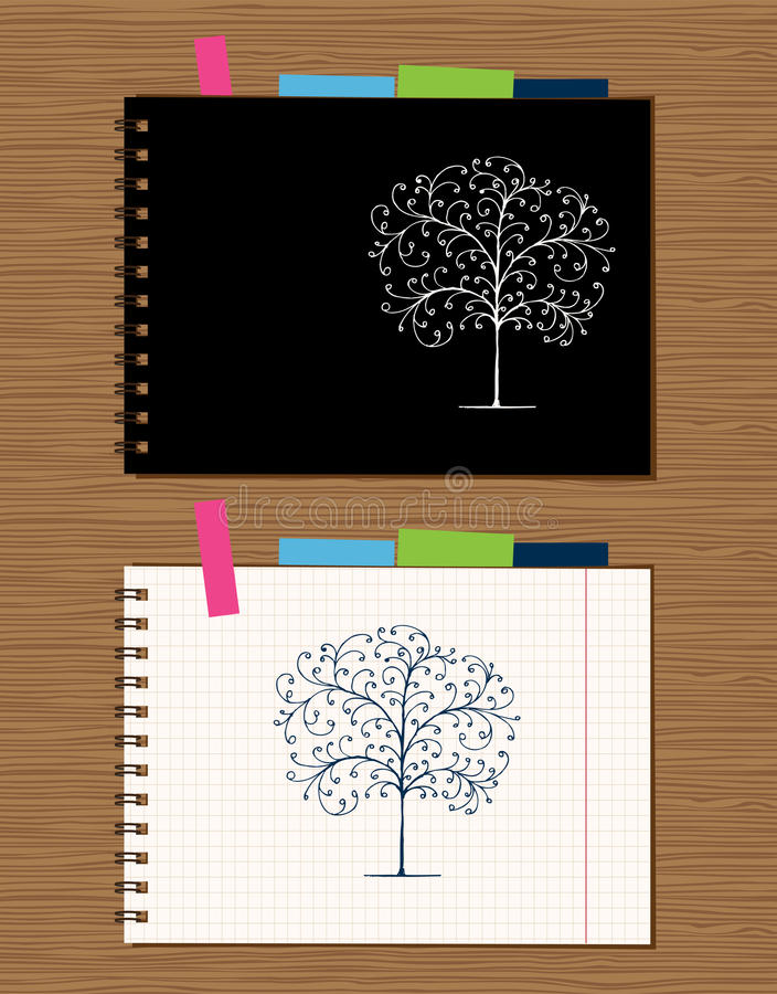download notebook cover and page design stock vector illustration of binder graphic 18892549