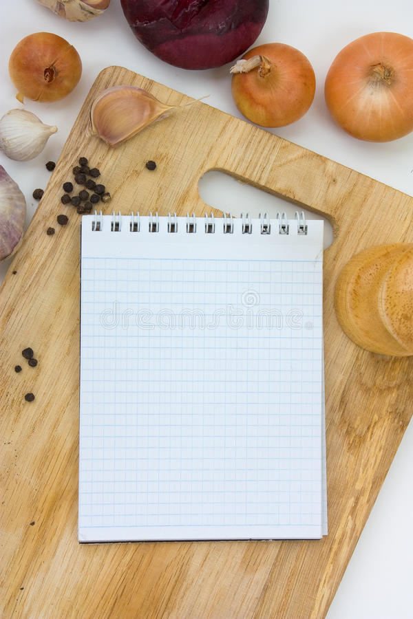 Download Notebook for culinary note stock photo. Image of list - 16150876