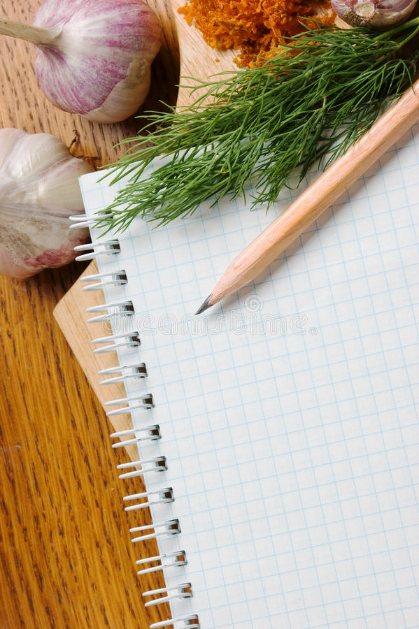 Download Notebook For Culinary Recipes Stock Photo - Image: 16196906