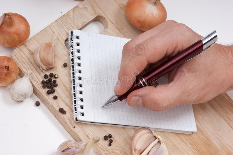Download Notebook For Culinary Recipes Stock Image - Image: 16465843
