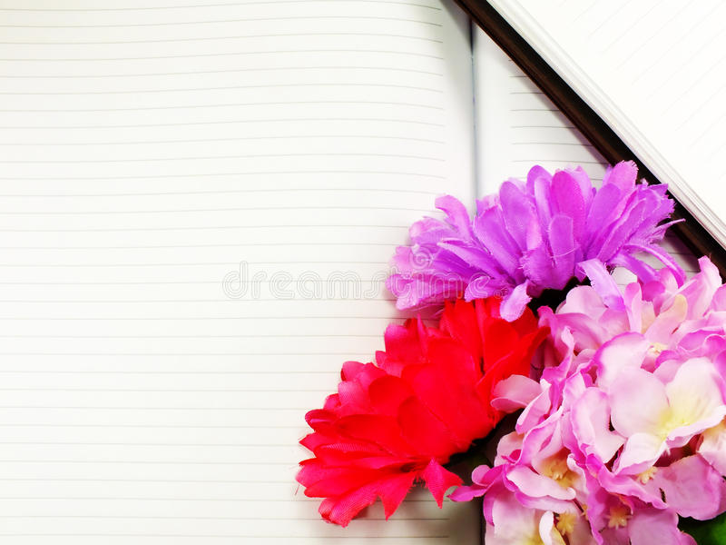Notebook Diary And Beautiful Artificial Hydrangeas And Gerbera ...