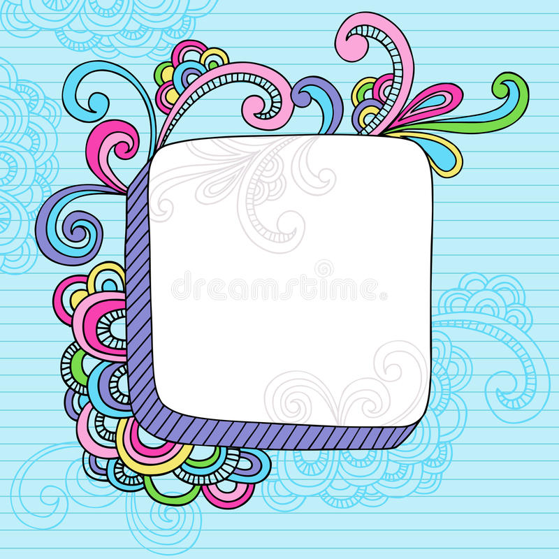 Free Notebook Doodle 3D Square Frame Royalty Free Stock Photos - 13380098