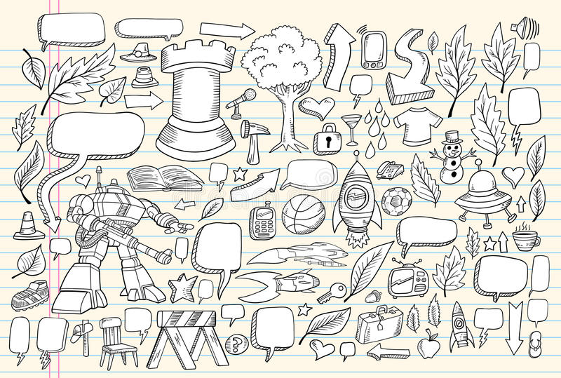 Download Notebook Doodle Sketch Vector Set Stock Vector - Image: 15010822