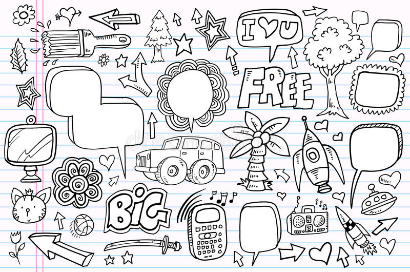 Download Notebook Doodle Sketch Vector Set Stock Vector - Illustration: 23915582