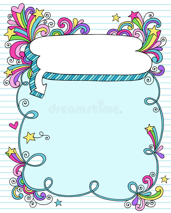 Free Notebook Doodle Speech Bubble Frame Stock Photography - 16870892