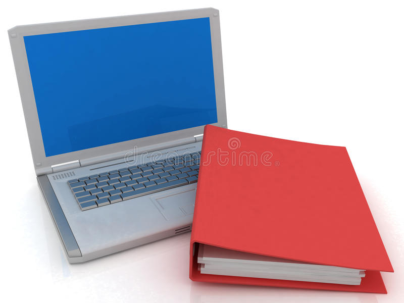 Download Notebook and folder stock illustration. Illustration of research - 21743533