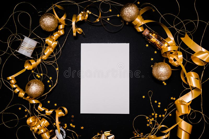 Blank notebook on pink coral background with Christmas decorations and sparkles. 2020. 2020 New Year concept copyspace top horizontal view stock photos