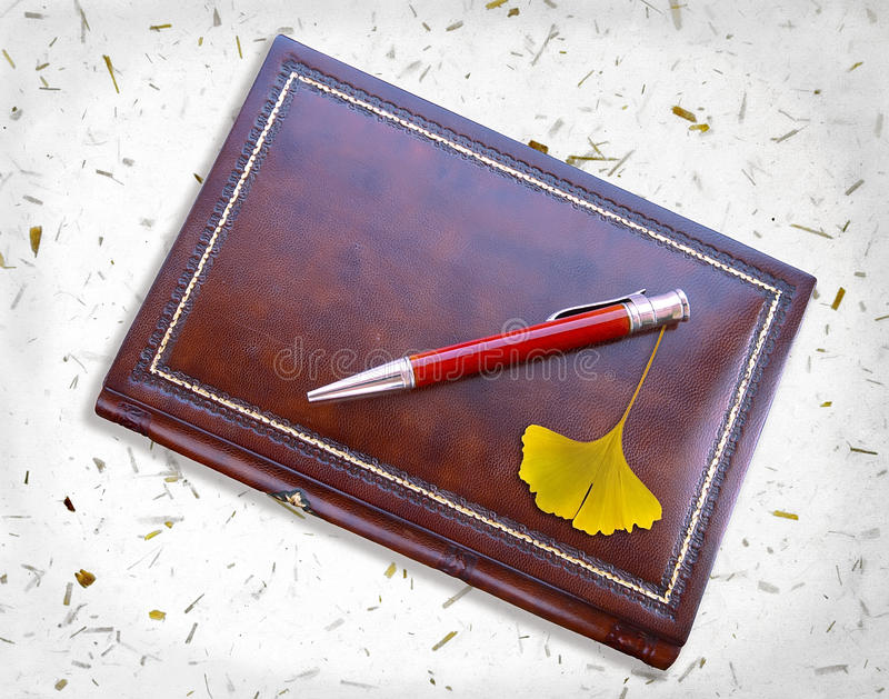 Download Notebook and ginkgo stock image. Image of date, brown - 24342769