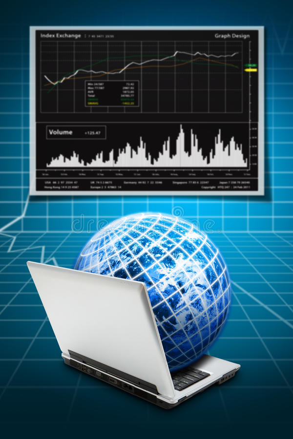 Download Notebook and graph report stock image. Image of rise - 26113697