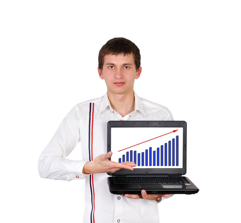 Notebook And Growth Chart Royalty Free Stock Image