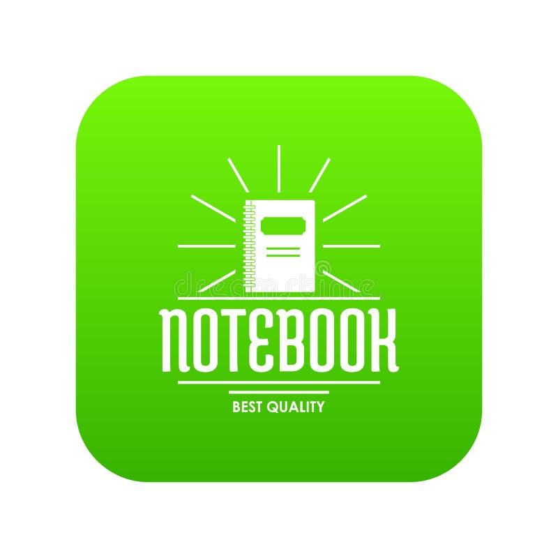 Notebook icon green vector vector illustration