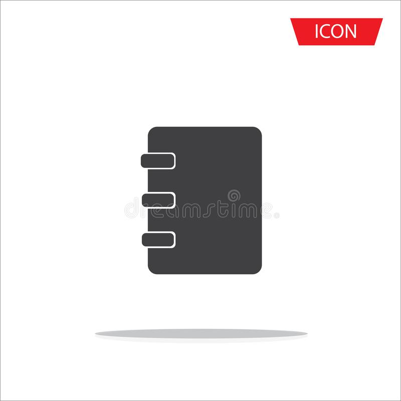 Notebook icon vector, address book icon isolated vector illustration