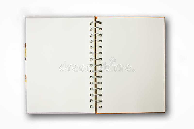 Notebook Isolated. Notebook on the White Background royalty free stock images