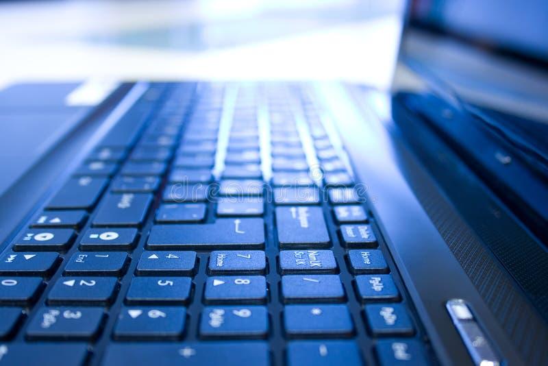 Notebook keyboard. Closeup view of notebook numeric keyboard stock photo