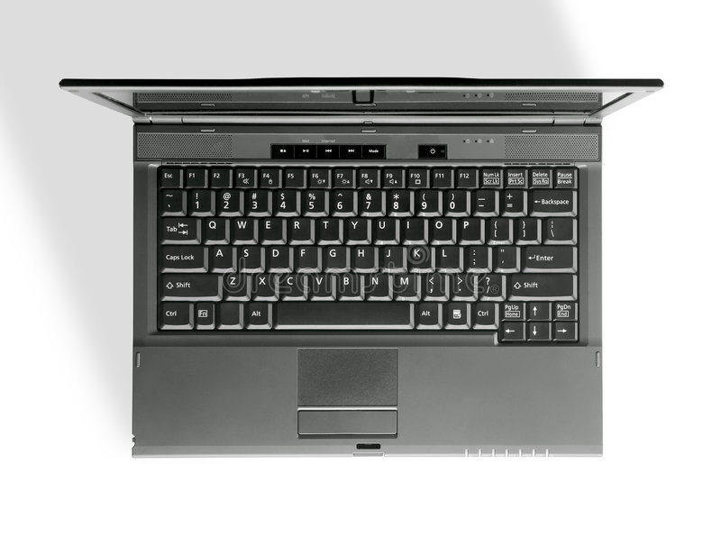 Notebook keyboard royalty free stock image