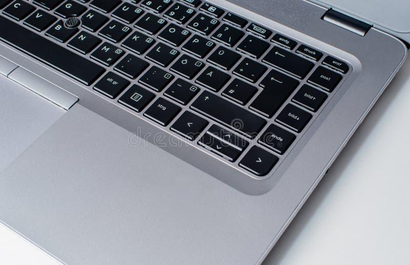 Notebook keyboard in closeup. Notebook Laptop keyboard in closeup royalty free stock photos