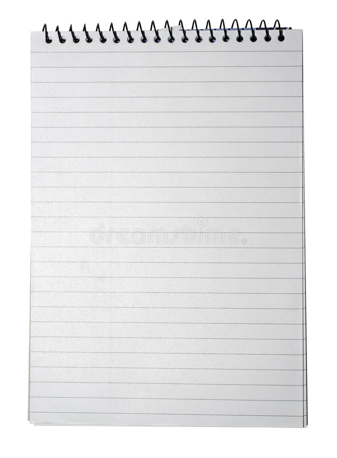 Free Notebook Lined White Paper Note Book Lines Texture Background Line Page Notes Pad Note Pad On Binding Binder Blank Isolated Empty Royalty Free Stock Photos - 7487558