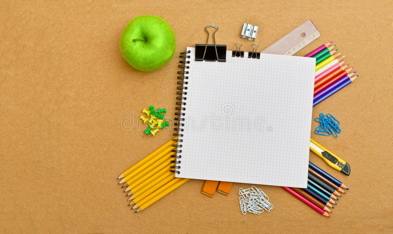 Download Notebook And Office Supplies Stock Photo - Image of office, colour: 20623772