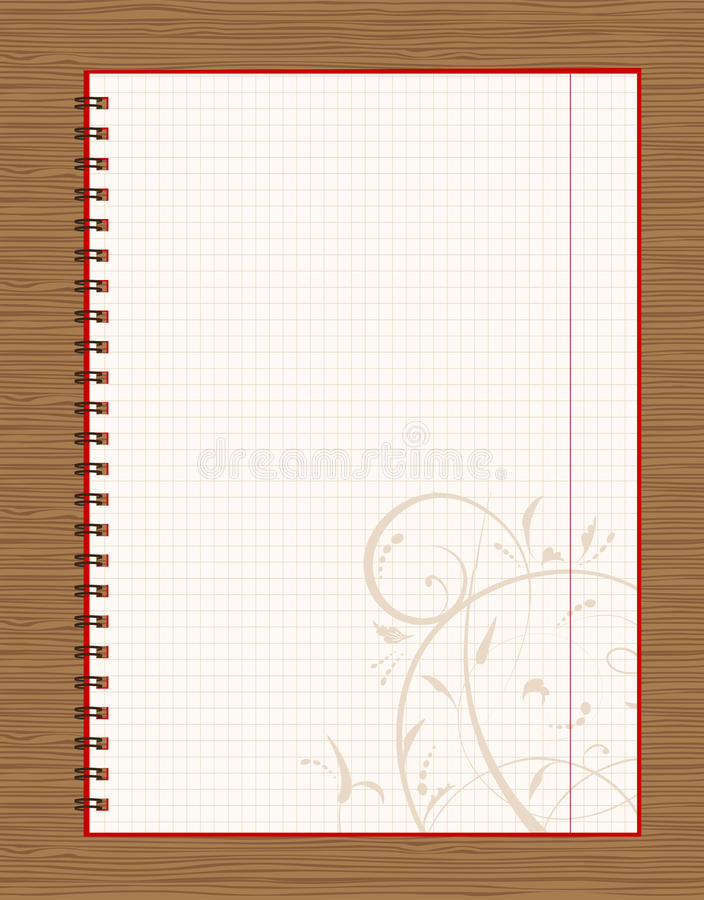 download notebook open page design on wooden background stock illustration illustration of ornate notebook