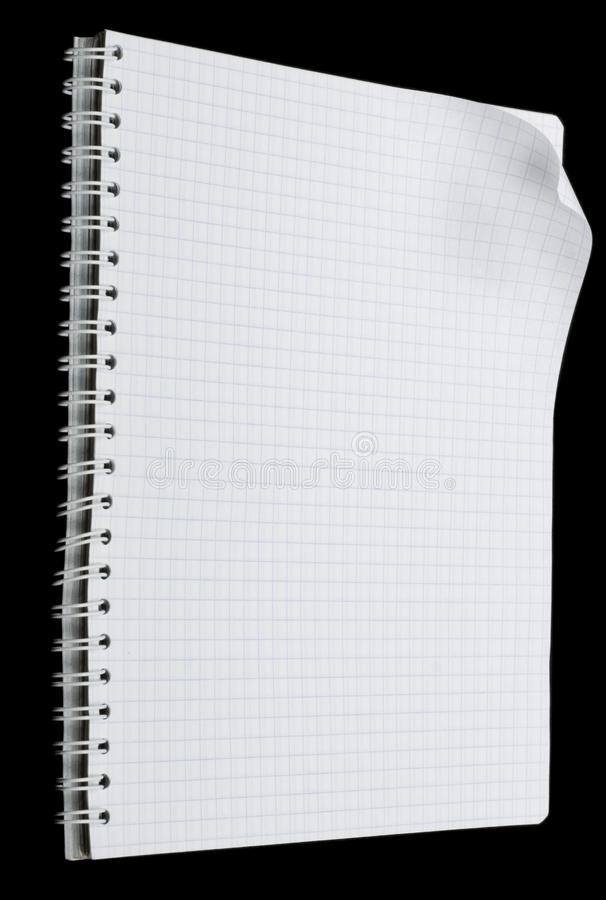 Notebook page with curl stock images
