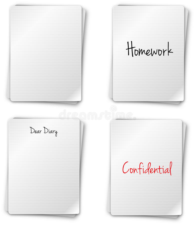 Download Notebook Pages stock vector. Illustration of letter, education - 21901938