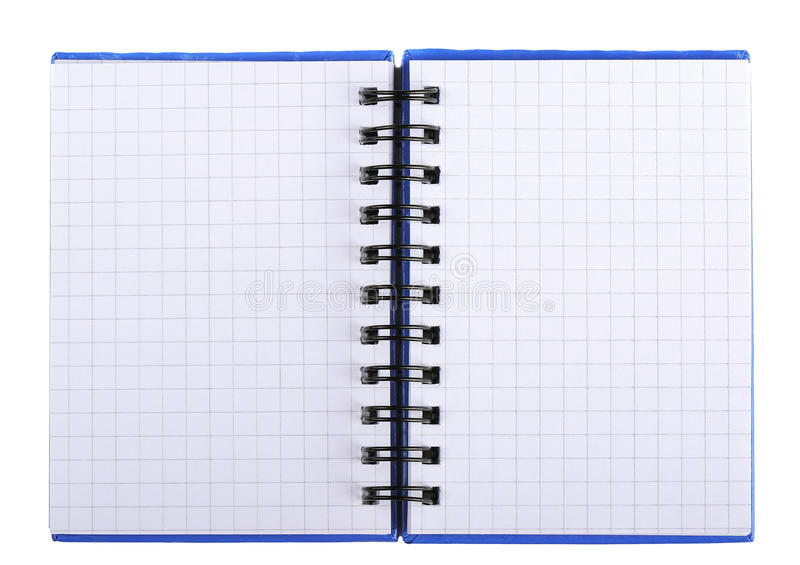 Notebook with pages in a cage with a spiral royalty free stock photography