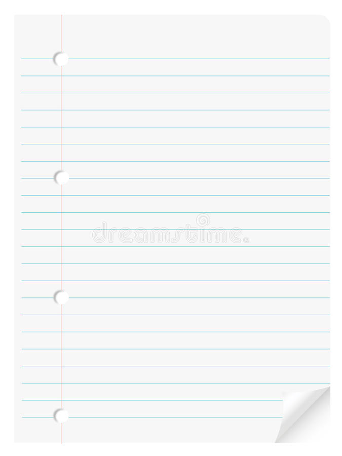 Notebook paper royalty free illustration