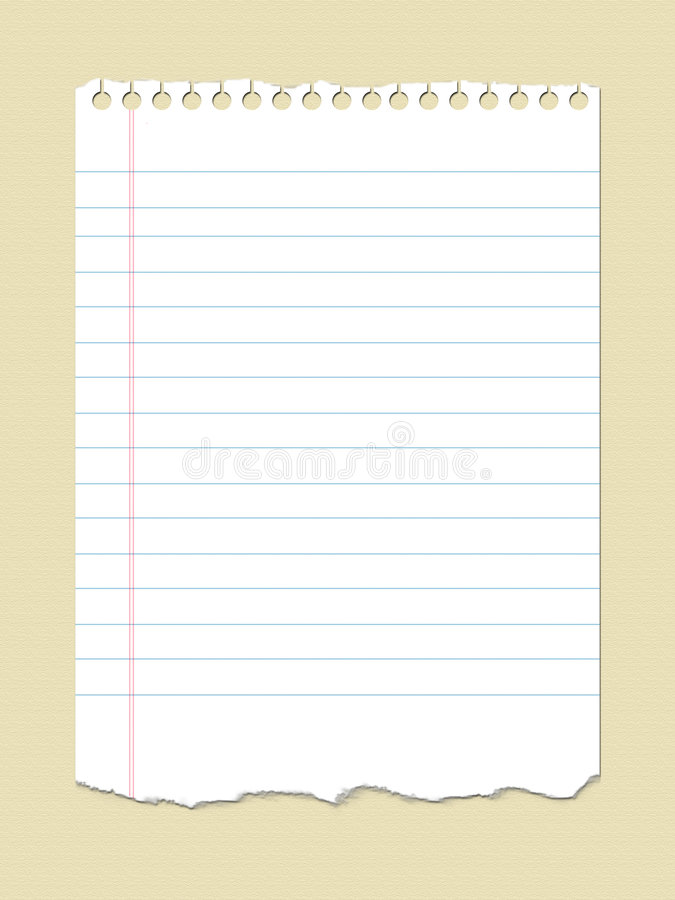 Download Notebook paper stock illustration. Image of notepad, background - 8646397