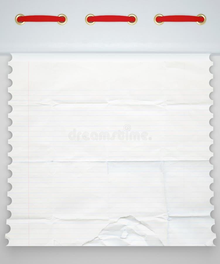 Notebook paper background. vector illustration