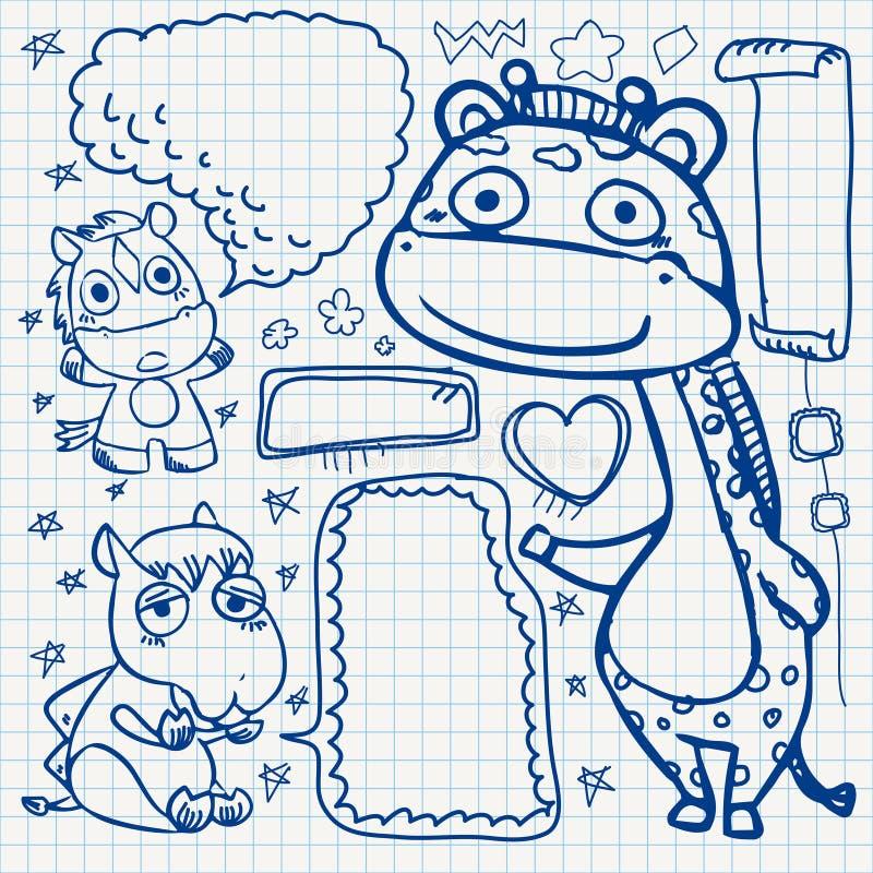 Download Notebook paper doodles stock vector. Image of heart, camel - 32040460