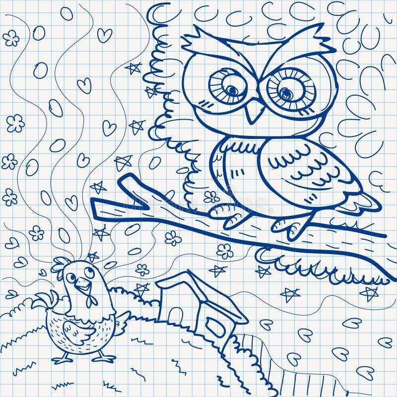 Download Notebook paper doodles stock vector. Image of child, design - 32040417