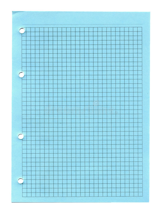 Notebook paper isolated