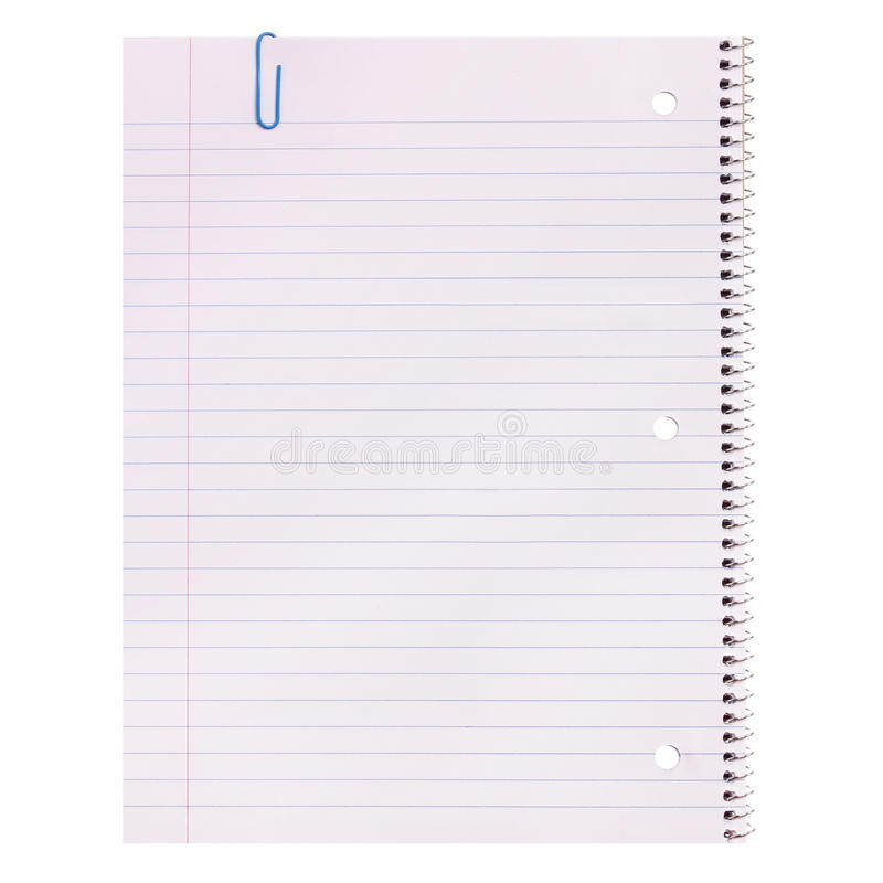 Download Notebook Paper Isolated. Lined Blank Stock Image   Image Of Clip,  List:  Lined Blank Paper